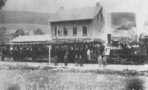 Streckeneröffnung 1.8.1901 Bahnhof Grünenplan