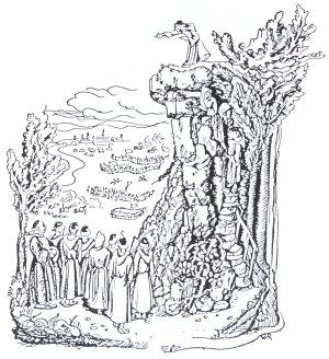 Der Mönchenstein (Zeichnung von Gerda Riege)