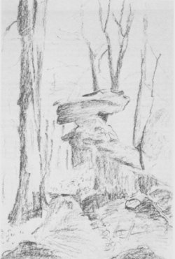 Der Garwindelstein (Zeichnung von Alfred Kalz, 1984)