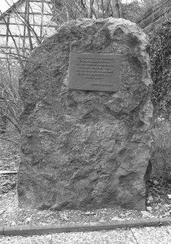 Rudorff Denkmal unterhalb des Kriegerdenkmals, 2007