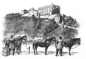 Rast im Schutz der Burg