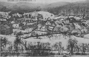 Alte Postkarte mit Winteransicht