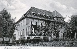 Alte Postkarte mit Kinderheim